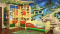 универсальная детская комната для двоих детей 3-14 лет (2ДМ-34, ракурс 2)