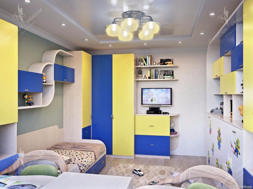 Дизайн одной комнаты для двоих детей