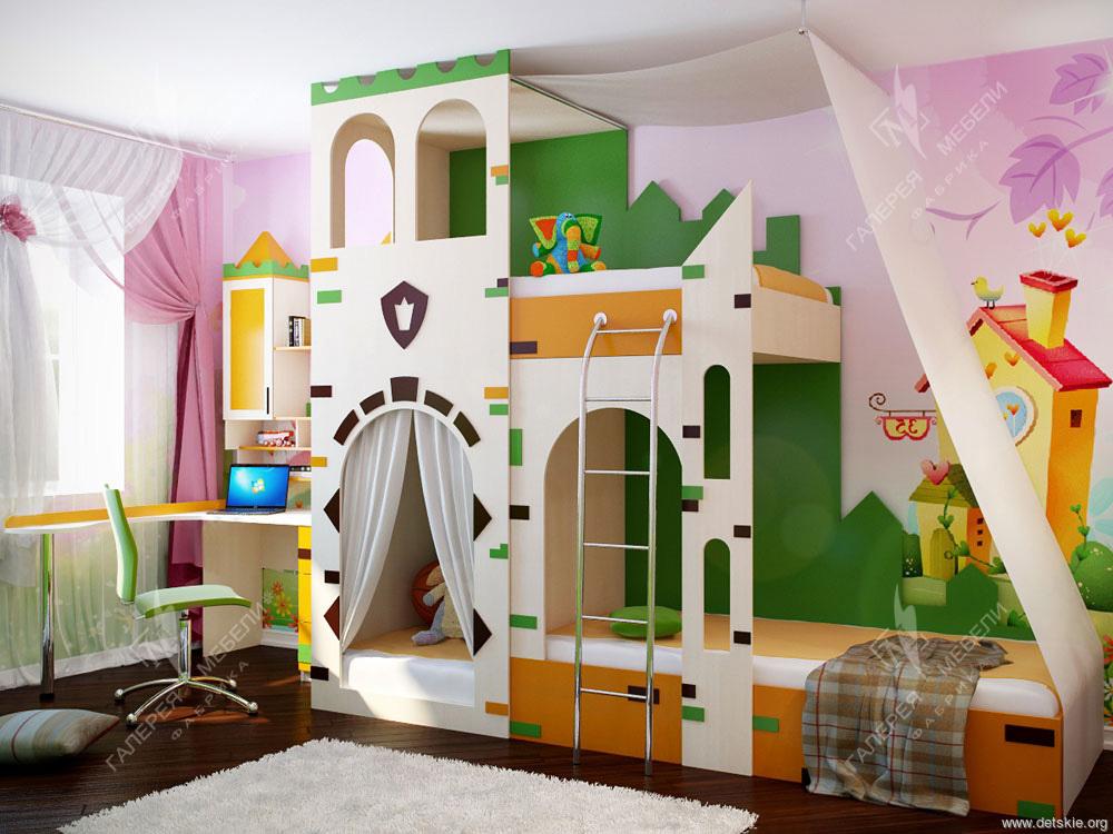 Детские спальни на 3 детей 37