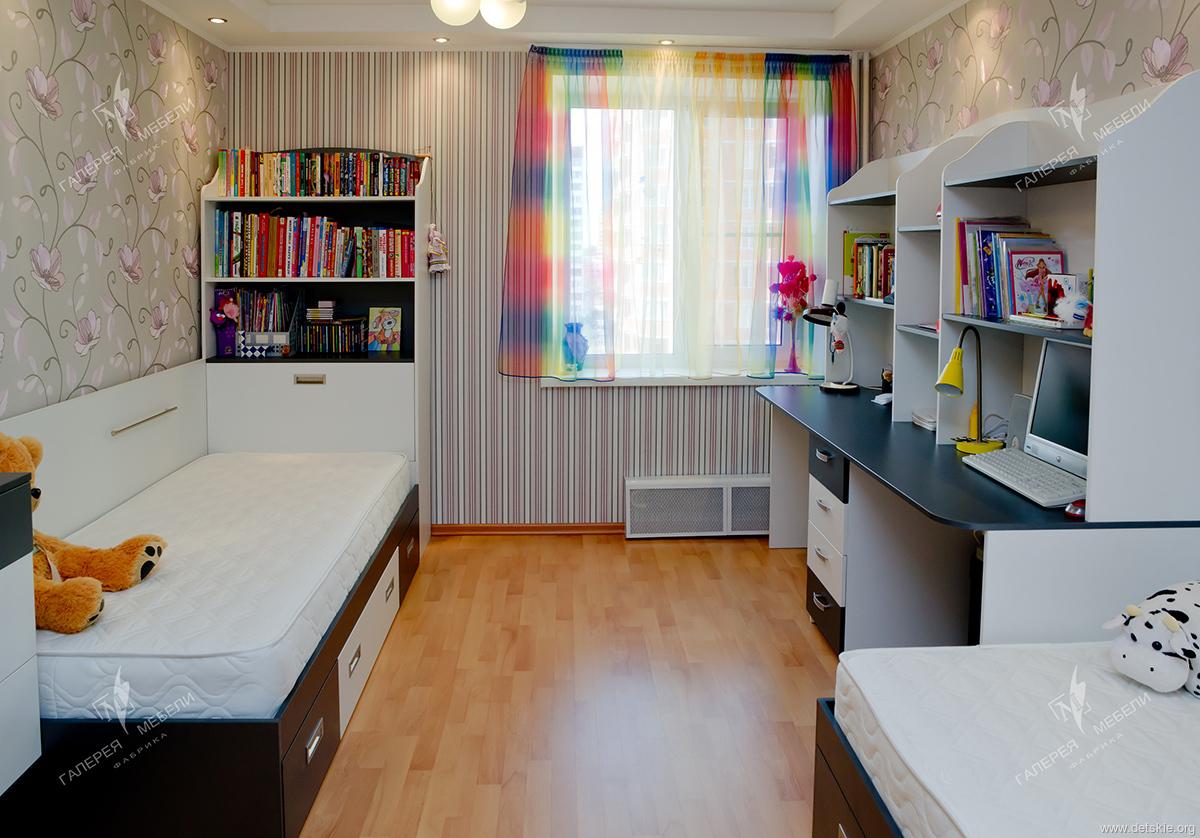 """Дизайн интерьера детской комнаты для двоих детей """" картинки ."""