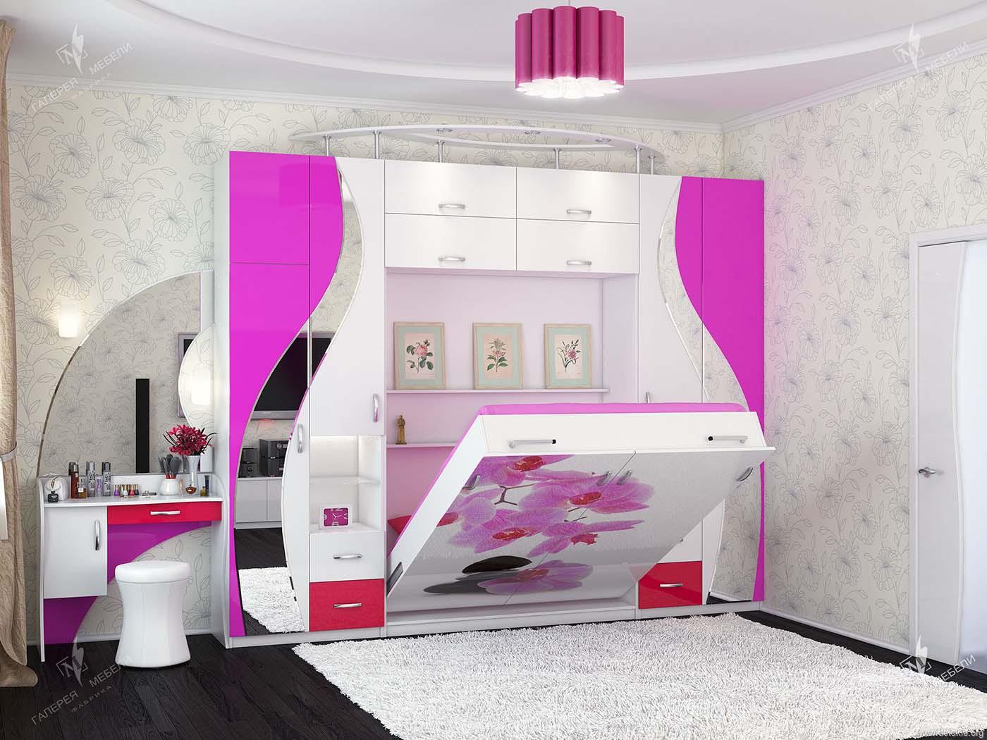 Мебель для детской комнаты для девочки: 4 темперамента, 4 пр.