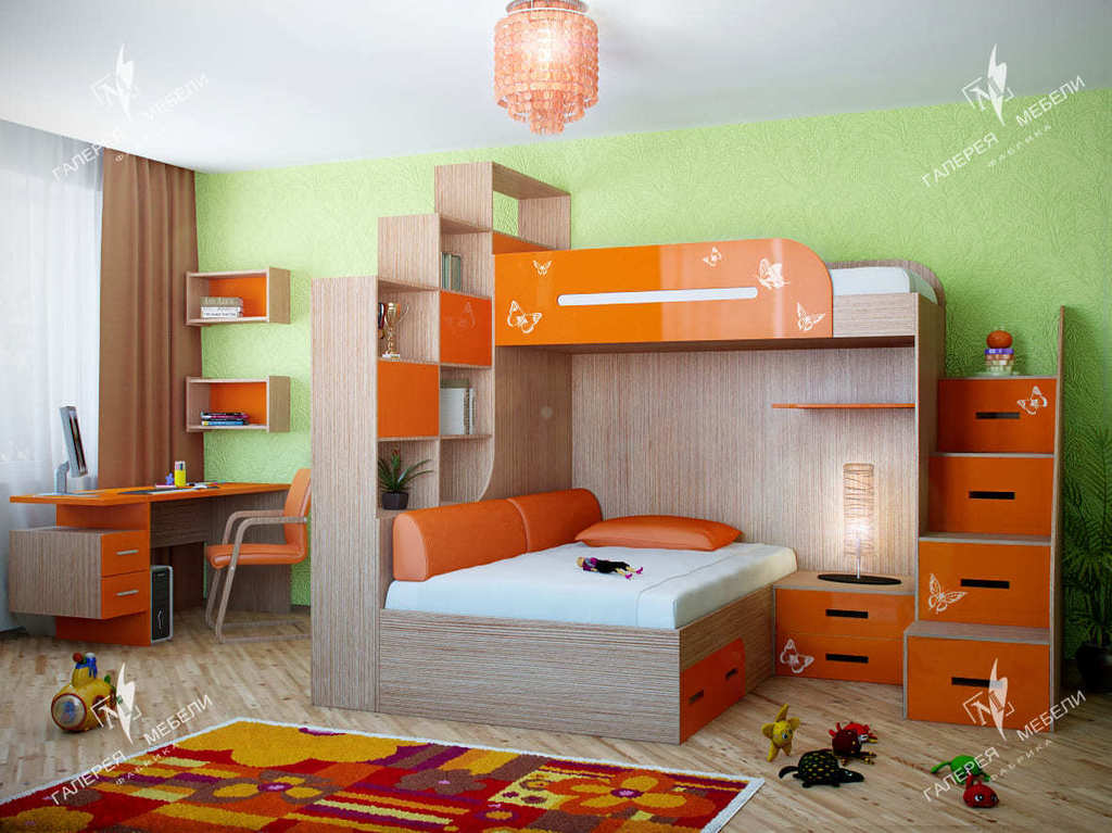 97718de52dae Детская комната для двух девочек | Детская комната для двоих девочек